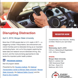Travelers Institute Presents Disrupting Distraction