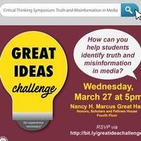 Innagural Great Ideas Challenge: Telling Truth from Fiction