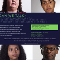 "Film Screening of ""Can We Talk? Difficult Conversations with Underrepresented People of Color: Sense of Belonging and Obstacles to STEM Fields""  