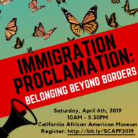 Immigration Proclamation: Belonging Beyond Borders (Students of Color and Allies Policy Forum)