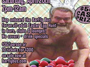 Adults-Only Easter Egg Hunt BarFly Bus Tour