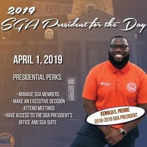 SGA President for the DAY!