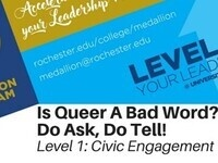 Medallion Workshop: Is Queer a Bad Word? Do Ask, Do Tell!