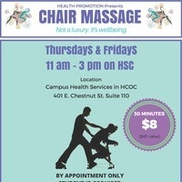 $8 30 minute chair massage