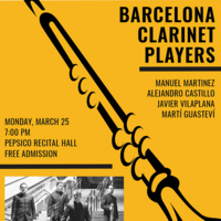 Guest Artist Series: Barcelona Clarinet Players