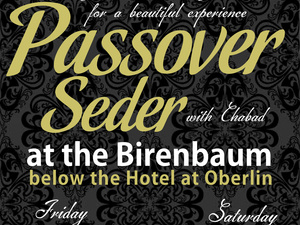 flyer advertising the seder event