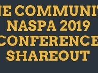 One Community NASPA 2019 Conference Share-out