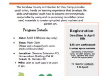 Kershaw County 4-H Garden Art Day Camp