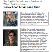 Poets & Writers: Casey Knott and Hai-Dang Phan