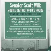 Senator Scott Wilk's Mobile Office Hours in Valencia