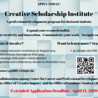 Creative Scholarship Institute | Graduate Life