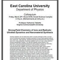 Physics Colloquium!- Professor Katharine Tibbetts