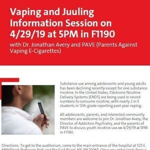 Vaping and Juuling Information Session - Events at NewYork
