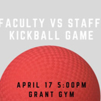 Faculty vs Staff Kickball Game