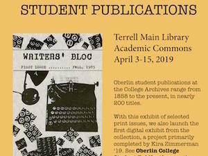 poster for student publications exhibit