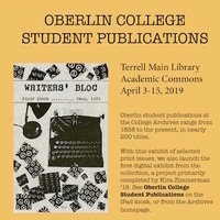 Exhibit and Digital Collection on Student Publications