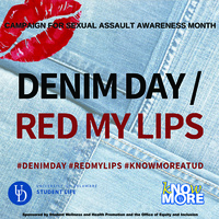 Denim Day/RedMyLips Sexual Assault Awareness Event