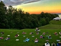 Sunset Yoga Flow on the Great Lawn