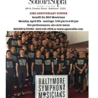 Benefit for the Baltimore Symphony Musicians