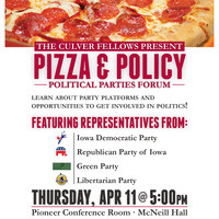 Pizza & Policy: Political Parties Forum