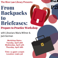 From Backpacks to Briefcases: Prepare to Practice Workshop