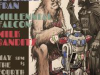 Comrade Fran, Millennial Falcon, Milk Bandits