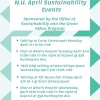 Earth/Sustainability/Green Month Information Table