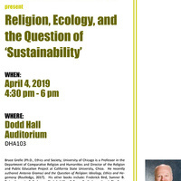 Religion, Ecology, and the Question of 'Sustainability'
