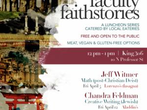Flyer for Faculty Faithstories
