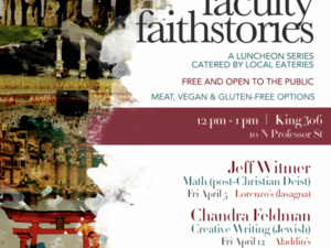 Flyer for Faculty Faithstories
