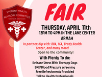 Student Health Advisory Health Fair