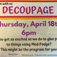 Art Party: Decoupage