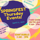 SpringFest: Thursday Daytime Events