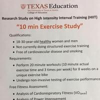 Sprint Interval Training Study for people who want to