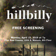 "Chicago Premiere of ""hillbilly"""