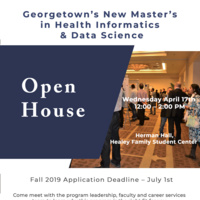 Open House: Georgetown's New Master's in Health Informatics and Data Science