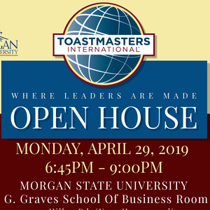 TOASTMASTERS OPEN HOUSE