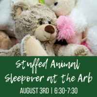 Stuffed Animal Sleepover at the Arboretum