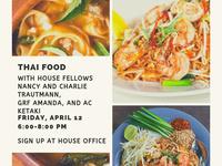 Bethe 04/12/19 Thai Food Dinner with HF Charlie Trautmann, GRF Amanda & AC Ketaki