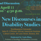 "Humanities Center Fellows ""New Discourses in Disability Studies"" Symposium"
