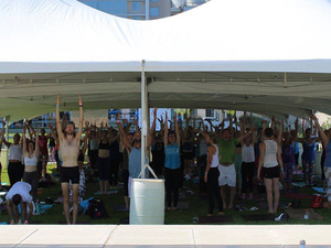 Lung Cancer Research Foundation's Baltimore Free to Breathe Yoga