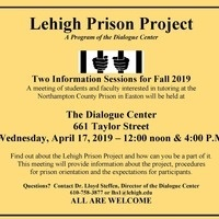 Lehigh Prison Project Fall 2019 - Information Session   The Dialogue Center