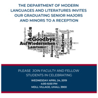 MDLL Graduating Seniors - Majors and Minors Reception