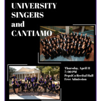 Ensemble Concert Series: University Singers and Cantiamo.