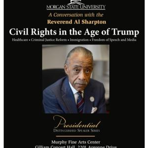 Presidential Distinguished Speaker Series w/Special Guest Speaker Reverend Al Sharpton