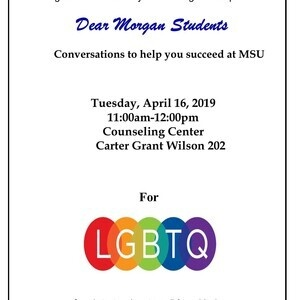Dear Morgan Students - For LGBTQ Students Only