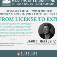 Speakers Series - From License to Exit | Technical Entrepreneurship Program