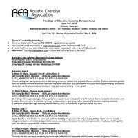 Aquatic Exercise Association Two-Day Aquatic Fitness Event