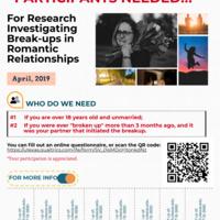 Invitation to romantic relationship breakup research