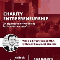 Video and Livestreamed Q&A: Joey Savoie of Charity Entrepreneurship